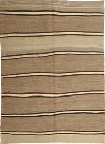 Kelim Moderni Matto 166X232 Moderni Käsinkudottu Vaaleanruskea/Tummanbeige (Villa, Persia/Iran)