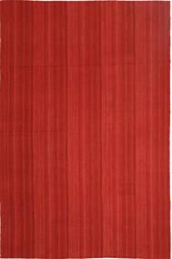 Kelim Moderni Matto 202X307 Moderni Käsinkudottu Ruoste (Villa, Persia/Iran)