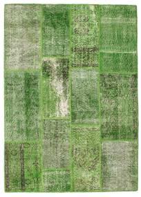Patchwork Matto 140X196 Moderni Käsinsolmittu Tummanvihreä/Vaaleanvihreä/Vihreä (Villa, Turkki)
