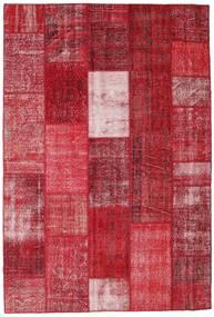 Patchwork Matto 202X298 Moderni Käsinsolmittu Punainen/Tummanpunainen (Villa, Turkki)