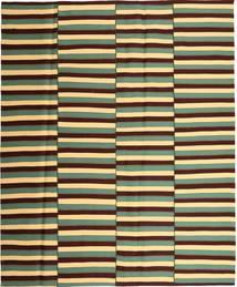 Kelim Moderni Matto 224X270 Moderni Käsinkudottu Tummanruskea/Vaaleanruskea (Puuvilla, Persia/Iran)