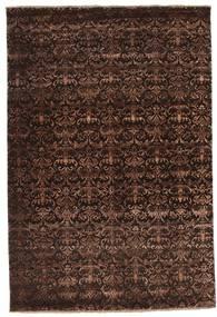 Damask Matto 183X272 Moderni Käsinsolmittu Tummanpunainen/Tummanruskea ( Intia)