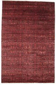 Damask Matto 200X306 Moderni Käsinsolmittu Tummanpunainen/Ruskea ( Intia)