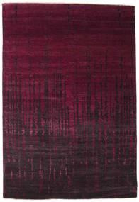 Damask Matto 203X298 Moderni Käsinsolmittu Tummanpunainen ( Intia)
