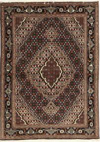Tabriz 40 Raj Matto 107X149 Itämainen Käsinsolmittu Tummanpunainen/Tummanruskea (Villa/Silkki, Persia/Iran)