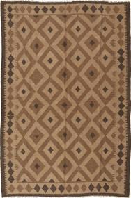 Kelim Maimane Matto 165X250 Itämainen Käsinkudottu Ruskea/Vaaleanruskea (Villa, Afganistan)