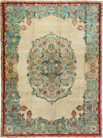 Tabriz Patina Matto 300X400 Itämainen Käsinsolmittu Tummanbeige/Pastellinvihreä Isot (Villa, Persia/Iran)