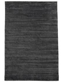 Bamboo Silkki Loom - Charcoal Matto 250X350 Moderni Musta/Violetti/Tummanharmaa Isot ( Intia)