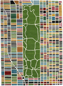 New-York/Manhattan Handtufted - Multi Matto 200X300 Moderni Beige/Oliivinvihreä (Villa, Intia)