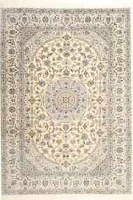 Nain 6La Habibian Matto 215X300 Itämainen Käsinsolmittu Vaaleanharmaa/Beige/Tummanbeige (Villa/Silkki, Persia/Iran)