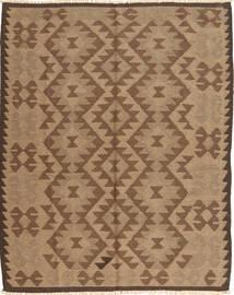 Kelim Maimane Matto 154X196 Itämainen Käsinkudottu Ruskea/Vaaleanruskea (Villa, Afganistan)