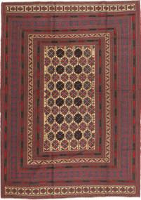 Kelim Golbarjasta Matto 189X260 Itämainen Käsinkudottu Tummanpunainen/Tummanruskea (Villa, Afganistan)