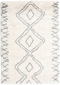 Berber Shaggy Massin Matto 140X200 Moderni Beige/Vaaleanharmaa ( Turkki)