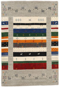 Loribaf Loom Designer - Harmaa/Multi Matto 120X180 Moderni Vaaleanharmaa/Beige (Villa, Intia)