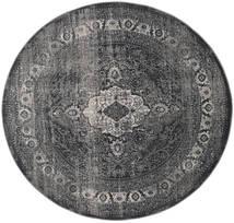 Jacinda - Anthracite Matto Ø 200 Moderni Pyöreä Tummanharmaa/Musta ( Turkki)