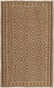 Kelim Matto 160X256 Itämainen Käsinkudottu Ruskea/Vaaleanruskea (Villa, Persia/Iran)
