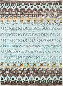 Quito - L. Sininen Matto 240X290 Moderni Käsinsolmittu Vaaleansininen/Tummanharmaa (Silkki, Intia)