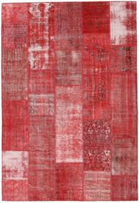 Patchwork Matto 203X298 Moderni Käsinsolmittu Tummanpunainen/Ruoste (Villa, Turkki)
