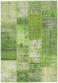 Patchwork Matto 141X203 Moderni Käsinsolmittu Vaaleanvihreä/Vihreä (Villa, Turkki)