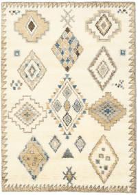 Berber Indo - Valkea/Beige Matto 140X200 Moderni Käsinsolmittu Beige/Valkoinen/Creme (Villa, Intia)