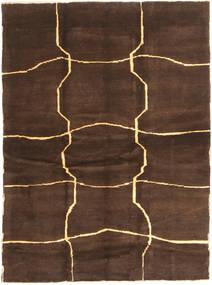 Gabbeh Persia Matto 153X208 Moderni Käsinsolmittu Tummanruskea/Ruskea (Villa, Persia/Iran)