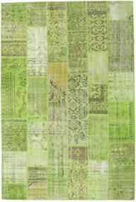 Patchwork Matto 203X303 Moderni Käsinsolmittu Vaaleanvihreä/Oliivinvihreä (Villa, Turkki)