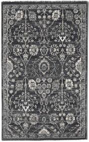 Zanjan - Tummanharmaa Matto 100X160 Moderni Tummanharmaa/Vaaleanharmaa ( Turkki)
