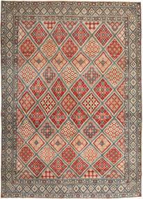 Nain Patina Matto 287X395 Itämainen Käsinsolmittu Vaaleanruskea/Vaaleanharmaa Isot (Villa/Silkki, Persia/Iran)