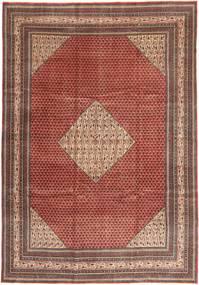 Sarough Patina Matto 255X360 Itämainen Käsinsolmittu Tummanpunainen/Tummanruskea Isot (Villa, Persia/Iran)