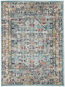 Chillon - Vaalea Sininen/Multi Matto 120X170 Moderni Tummanvihreä/Vaaleanharmaa ( Turkki)