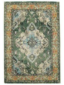 Leia - Vihreä Matto 120X170 Moderni Vaaleanharmaa/Tummanvihreä ( Turkki)