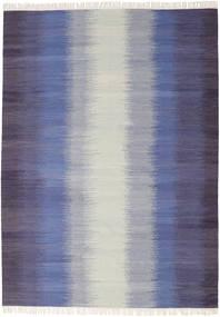 Ikat - Tumma Sininen Matto 210X290 Moderni Käsinkudottu Vaaleanharmaa/Violetti (Villa, Intia)