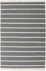Dorri Stripe - Harmaa Matto 160X230 Moderni Käsinkudottu Tummanruskea/Tummanharmaa (Villa, Intia)
