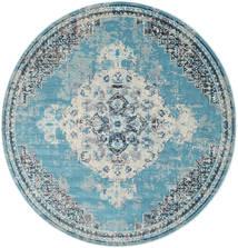 Turid - Sininen Matto Ø 200 Moderni Pyöreä Vaaleansininen/Vaaleanharmaa ( Turkki)