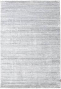 Bamboo Silkki Loom - Harmaa Matto 160X230 Moderni Valkoinen/Creme/Vaaleanharmaa ( Intia)
