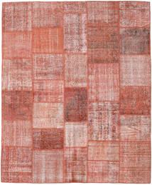 Patchwork Matto 251X303 Moderni Käsinsolmittu Vaaleanpunainen/Tummanpunainen Isot (Villa, Turkki)