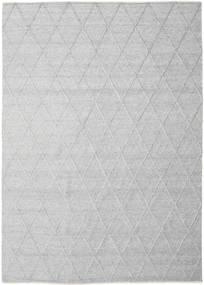 Svea - Hopeanharmaa Matto 250X350 Moderni Käsinkudottu Vaaleanharmaa/Valkoinen/Creme Isot (Villa, Intia)