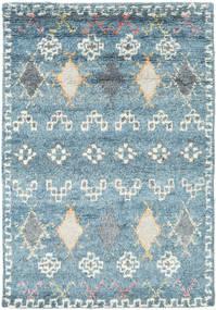 Zaurac - Sininen Harmaa Matto 140X200 Moderni Käsinsolmittu Vaaleansininen/Vaaleanharmaa (Villa, Intia)