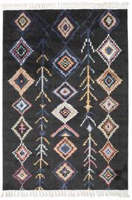 Rauma - Musta Matto 160X230 Moderni Musta/Tummanharmaa ( Turkki)
