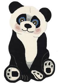 Panda Baby Matto 100X160 Moderni Tummanharmaa/Beige (Villa, Intia)