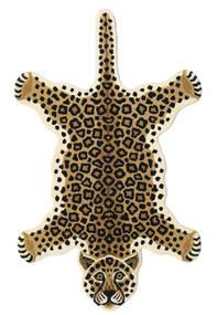 Leopard - Beige Matto 100X160 Moderni Beige/Musta (Villa, Intia)