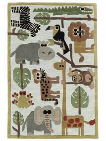 Zoo Handtufted Matto 120X180 Moderni Vaaleansininen/Vaaleanharmaa (Villa, Intia)