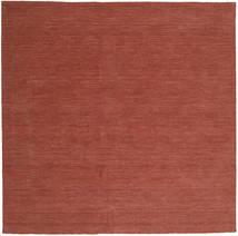 Kelim Loom - Ruoste Matto 250X250 Moderni Käsinkudottu Neliö Tummanpunainen Isot (Villa, Intia)