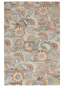 Rusty Flowers - Harmaa/Ruoste Matto 200X300 Moderni Vaaleanharmaa/Tummanbeige (Villa, Intia)