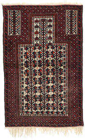 Afghan Khal Mohammadi Matto 88X136 Itämainen Käsinsolmittu Tummanruskea/Tummanpunainen (Villa, Afganistan)