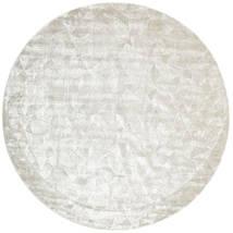 Crystal - Hopeavalkoinen Matto Ø 250 Moderni Pyöreä Vaaleanharmaa/Tummanbeige/Beige Isot ( Intia)