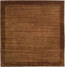 Handloom Frame - Ruskea Matto 300X300 Moderni Neliö Ruskea/Tummanruskea Isot (Villa, Intia)