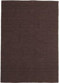 Kelim Loom - Tummanruskea Matto 160X230 Moderni Käsinkudottu Tummanruskea (Villa, Intia)