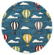 Balloons Matto Ø 150 Moderni Pyöreä Tummansininen/Sininen ( Turkki)