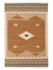 Tribal - Mustard Matto 160X230 Moderni Käsinkudottu Ruskea/Vaaleanruskea (Villa, Intia)